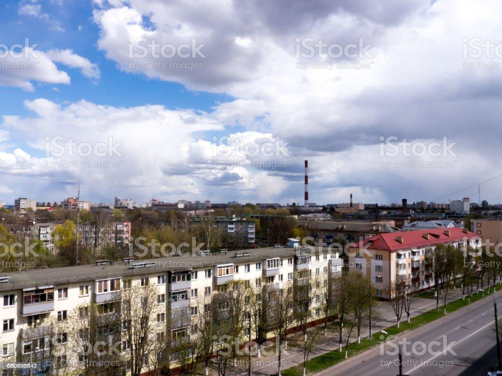 The Factory chimneys. royalty-free stock photo