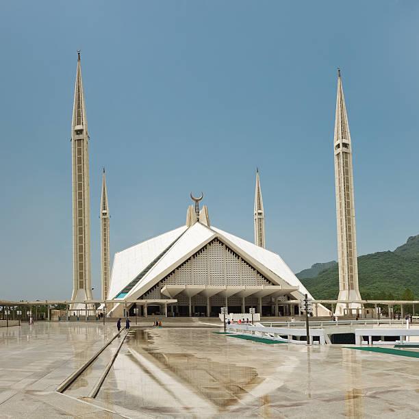 The Faisal Mosque in Islamabad, Pakistan stock photo