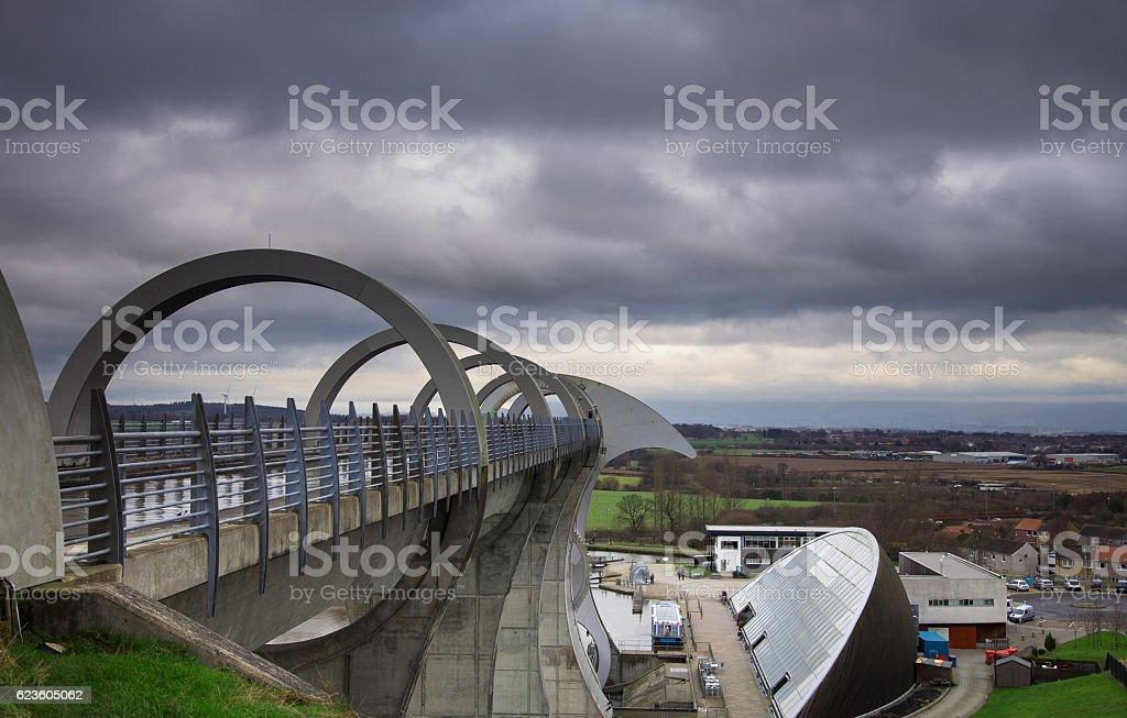 The Falkirk Wheel stock photo