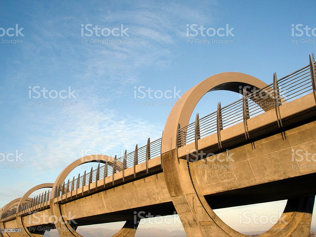 The Falkirk Wheel, Scotland stock photo
