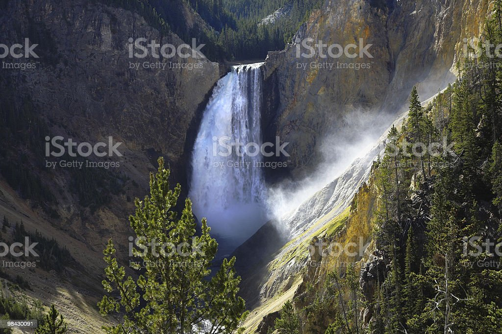 The falls in a canyon royalty-free stock photo