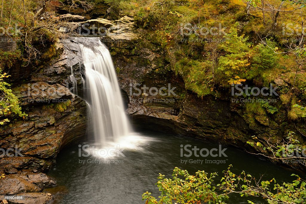 The Falls of Falloch in the Trossachs National Park, Scotland stock photo