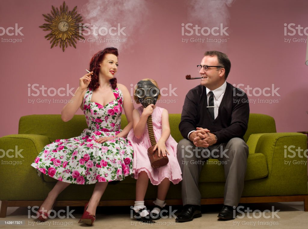 the family that smokes together stock photo