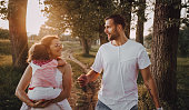 istock The family walks in nature 1267414743