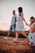 istock The family walks in nature 1267415384