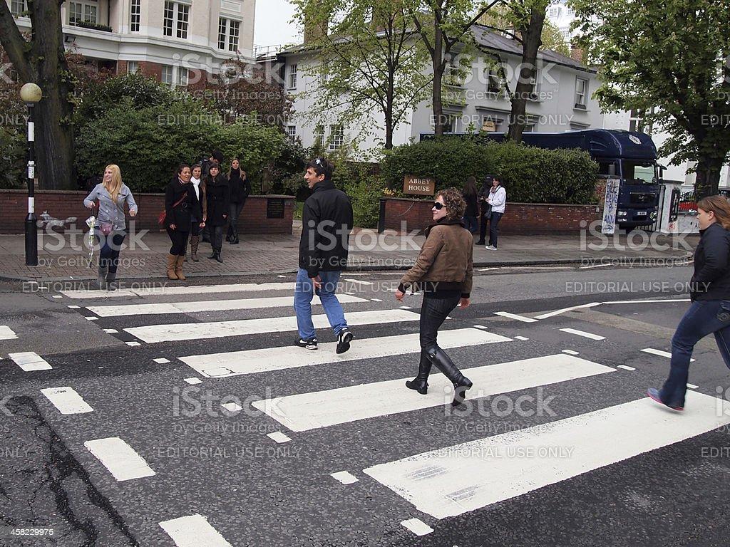 The famous Abbey Road Crosswalk in London royalty-free stock photo