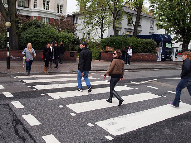 The famous Abbey Road Crosswalk in London stock photo