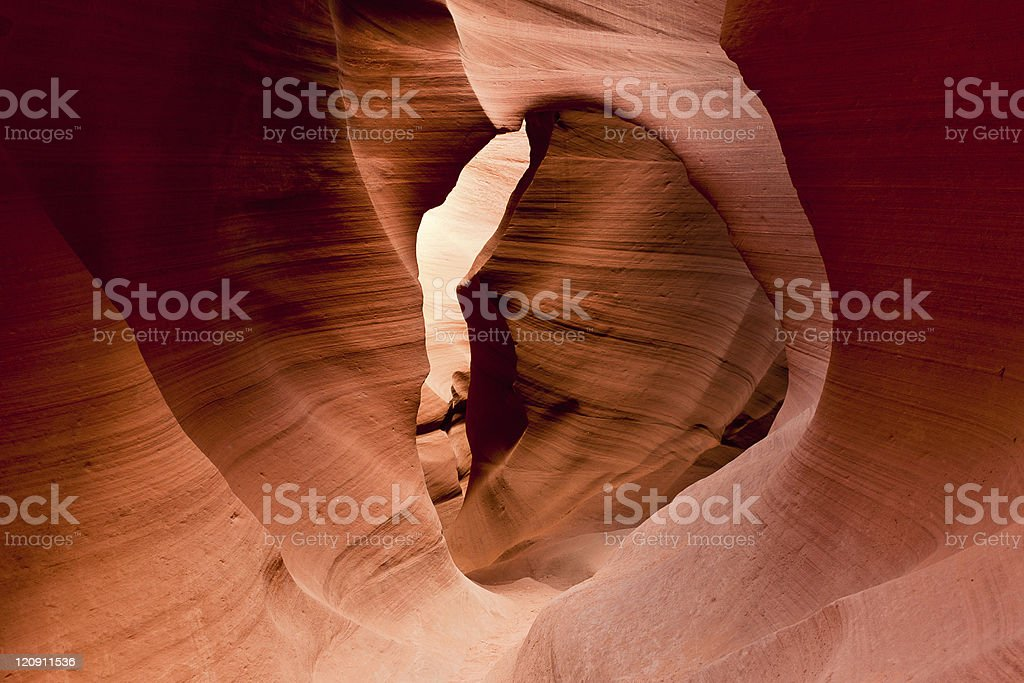The famous Antelope Canyon in Arizona, USA royalty-free stock photo