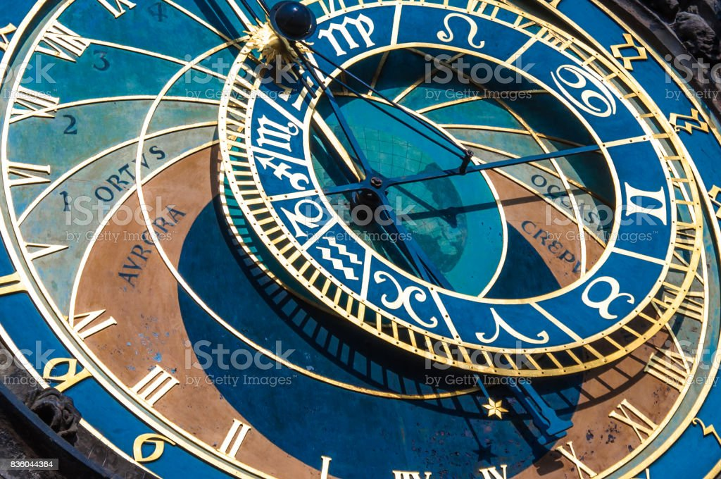 The famous Astronomica clock in Prague stock photo