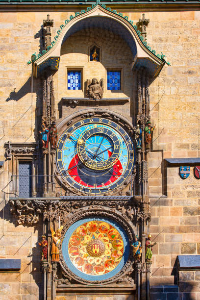 The famous astronomical clock in Prague The famous astronomical clock in Prague astronomical clock prague stock pictures, royalty-free photos & images