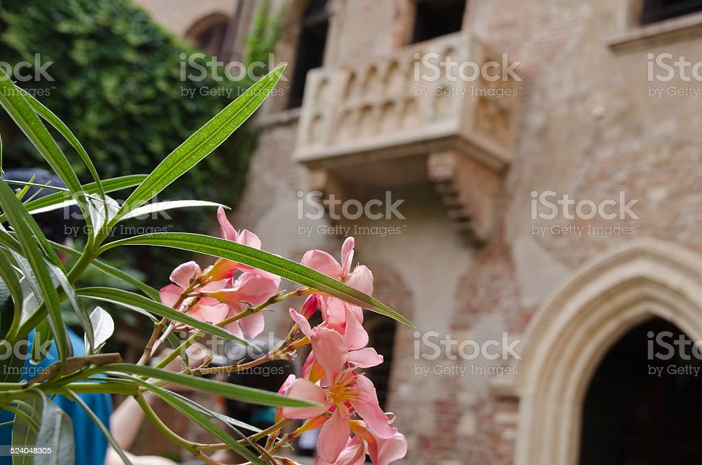 The Famous Balcony of Juliet stock photo