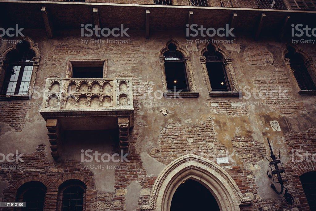 Der Beruhmte Balkon Von Romeo Und Julia In Verona Italien Stock