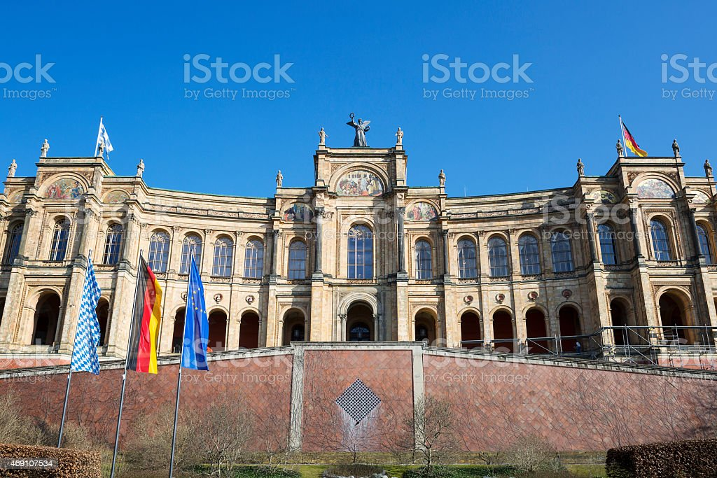 The famous bayerischer landtag stock photo