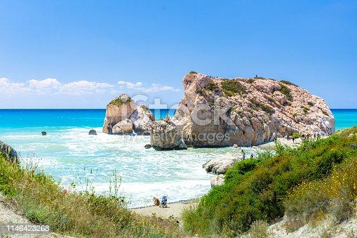 istock The famous beach of Aphrodite's rock or Venus rock, Petra tou Romiou, Cyprus 1146423268