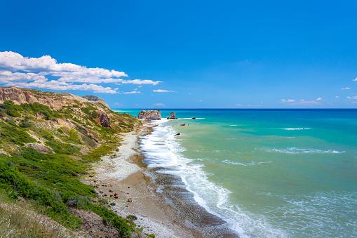 istock The famous beach of Aphrodite's rock or Venus rock, Petra tou Romiou, Cyprus 1146515216
