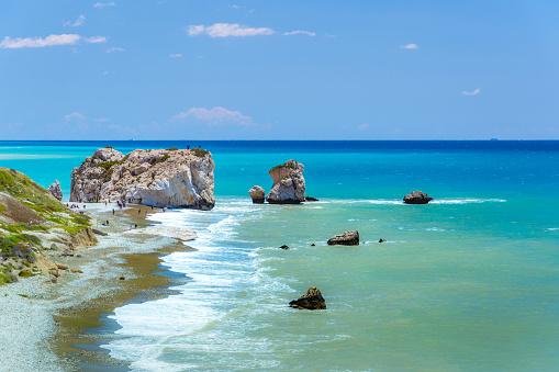 istock The famous beach of Aphrodite's rock or Venus rock, Petra tou Romiou, Cyprus 1153069583
