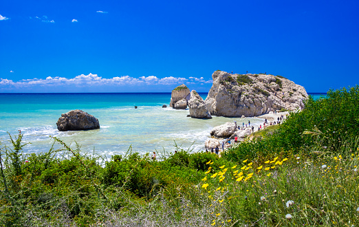 istock The famous beach of Aphrodite's rock or Venus rock, Petra tou Romiou, Cyprus 1153070896