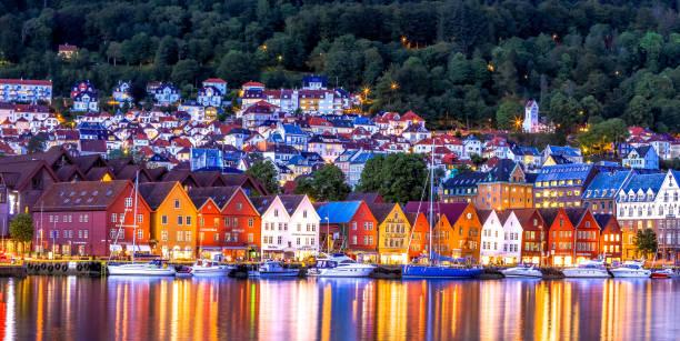 The famous Bryggen - Bergen, Norway. stock photo