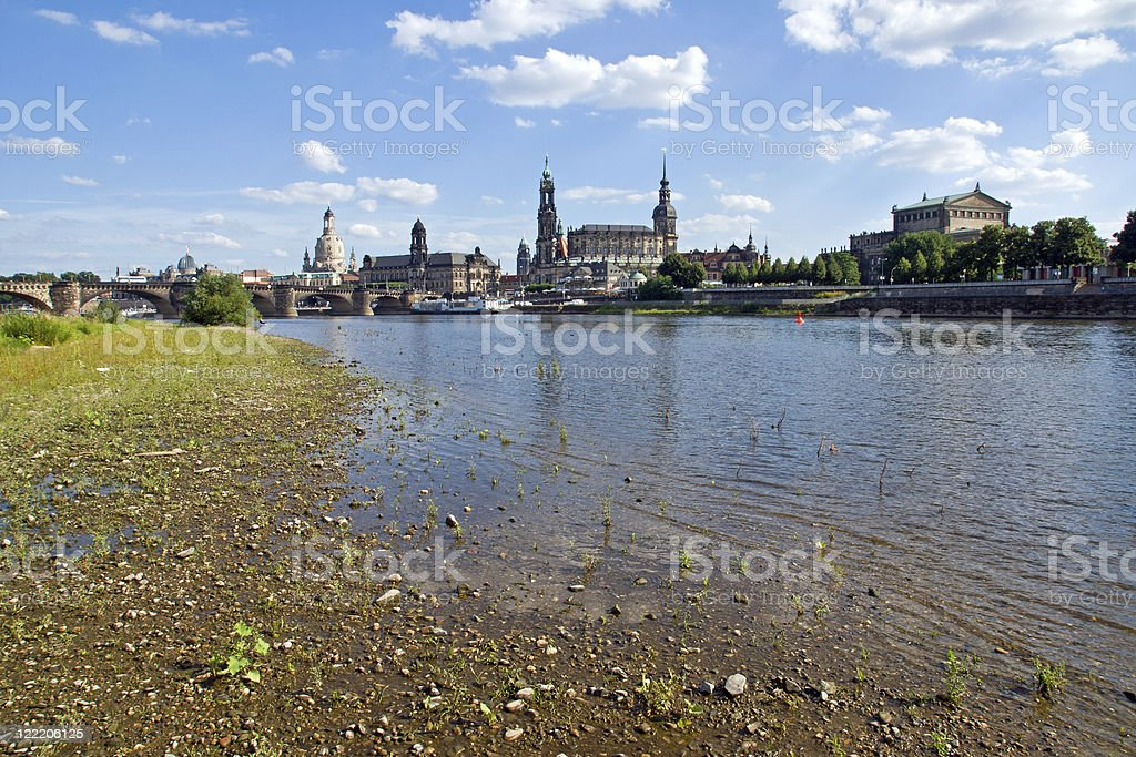The famous Canaletto view of Dresden stock photo