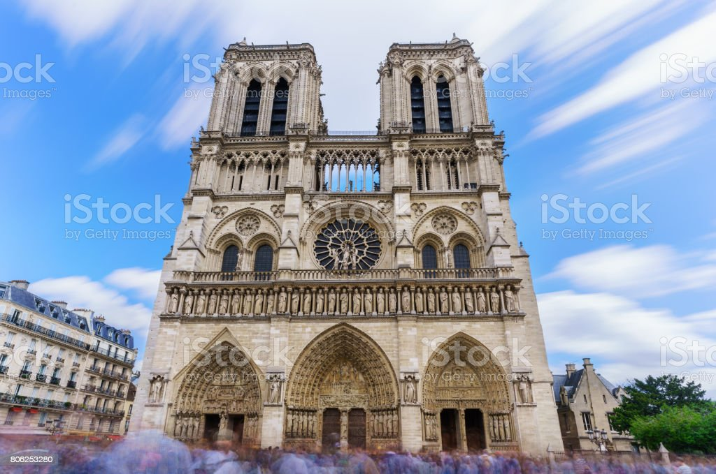 The Famous Cathedral Notre Dame De Paris French Gothic Architecture Is One Of