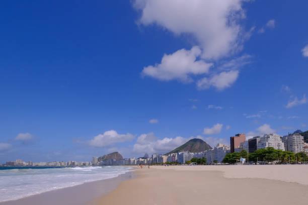 The famous Copacabana beach, Rio de Janeiro, Brazil stock photo
