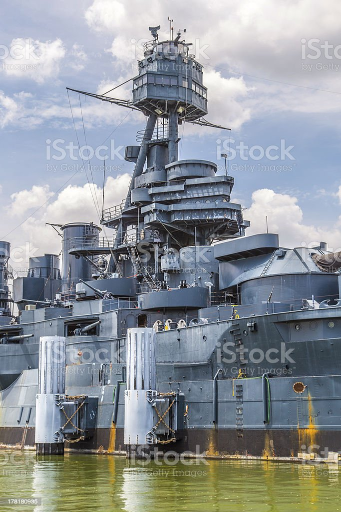 The Famous Dreadnought Battleship Texas royalty-free stock photo