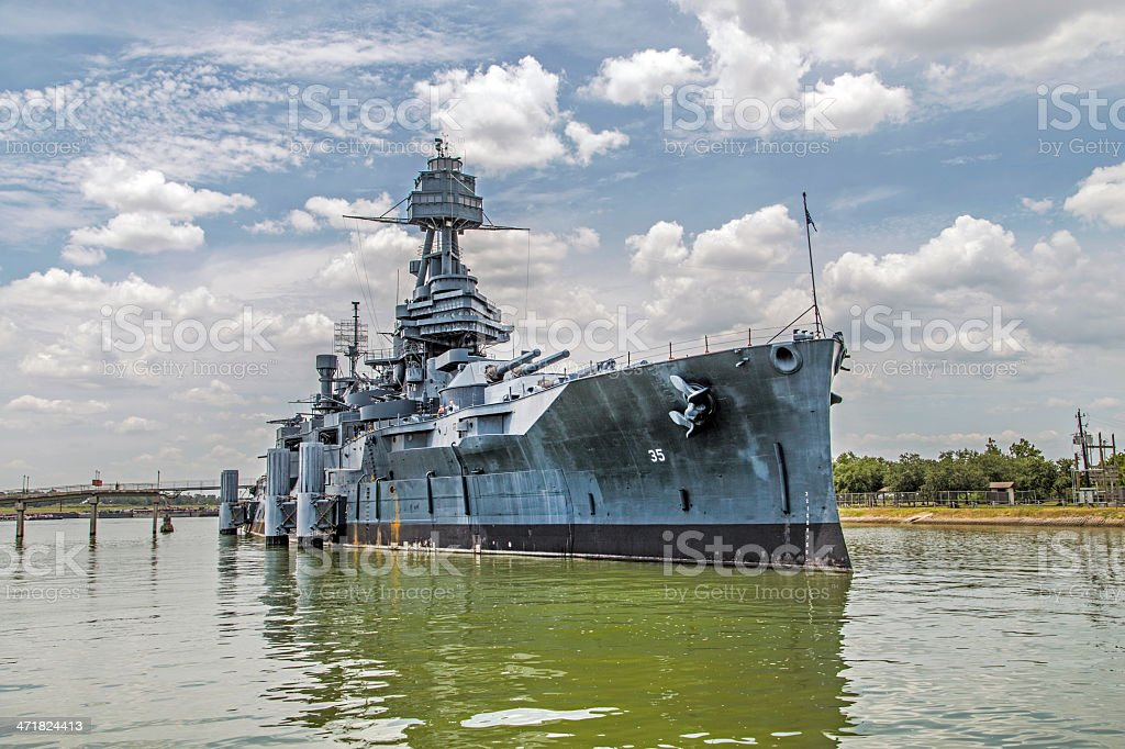The Famous Dreadnought Battleship Texas stock photo