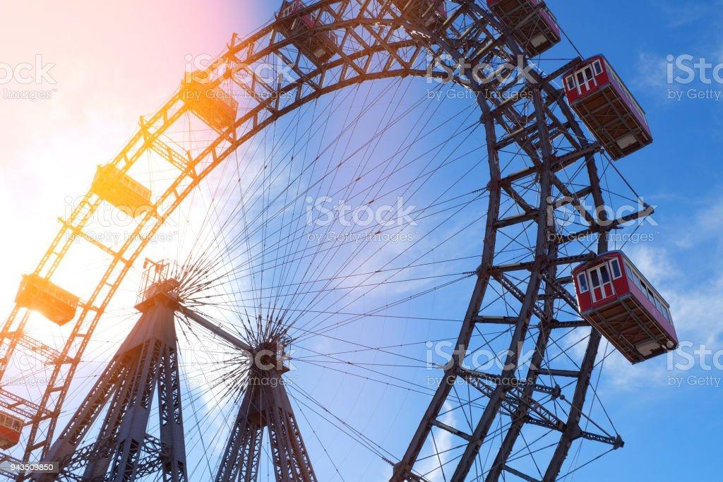 Das berühmte Riesenrad in Wien; Riesenrad Im Wiener Prater, Österreich – Foto