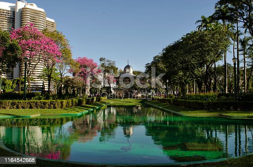 The famous garden in Liberty Square Belo Horizonte