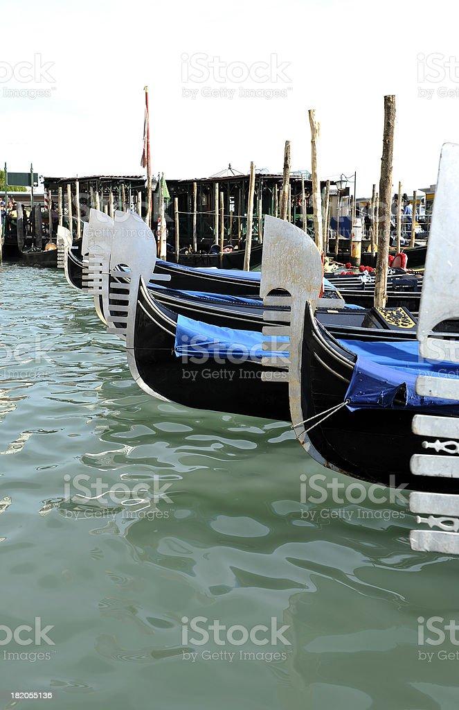 The famous gondolas in Venice - Italy royalty-free stock photo
