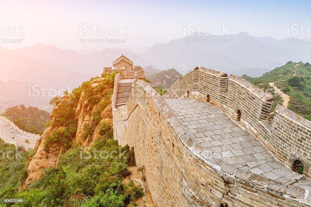 The famous Great Wall of China,jinshanling stock photo