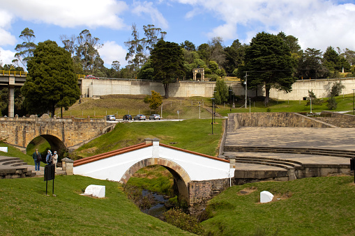 The famous historic Bridge of Boyaca in Colombia. The Colombian independence Battle of Boyaca took place here on August 7, 1819.
