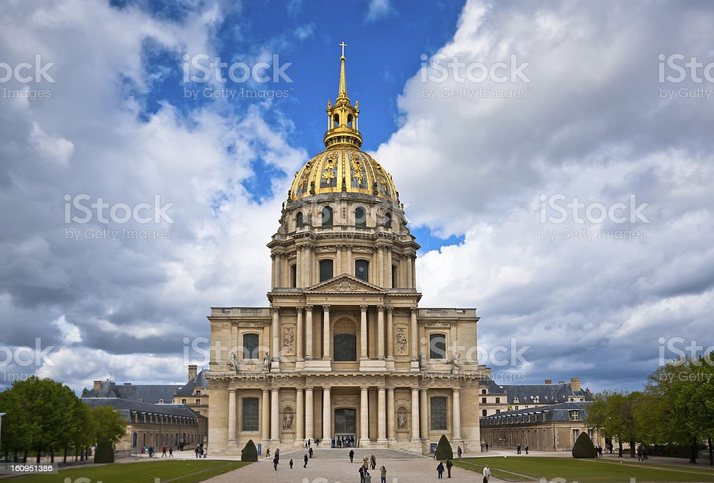 The famous Hotel des Invalides, Paris stock photo