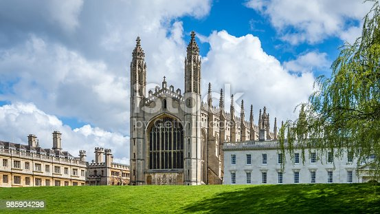 istock The famous King's College Chapel from the bank of river Cam on a bright sunny day 985904298