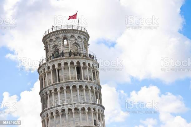 Det Berömda Lutande Tornet Fotograferad Från En Ovanlig Synvinkel Bild Med Kopia Utrymme-foton och fler bilder på Arkitektur