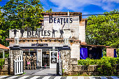The famous live music bar 'Beatles' in Varadero Cuba for tourists and cuban peoples - Serie Cuba Reportage