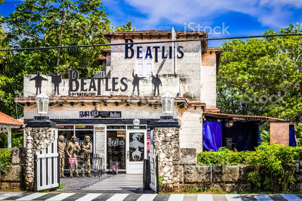 The famous live music bar 'Beatles' in Varadero Cuba for tourists and cuban peoples - Serie Cuba Reportage stock photo