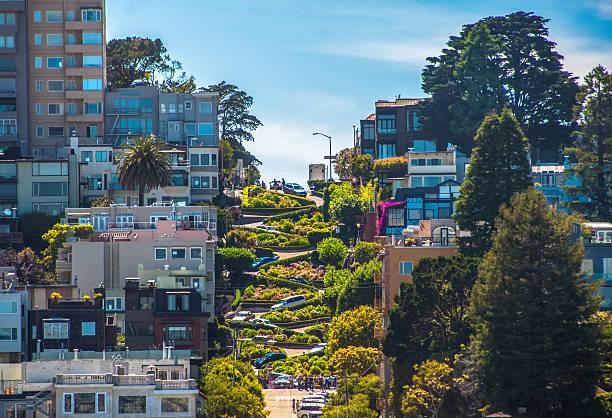 The famous Lombard Street, San Francisco, California, USA – Foto