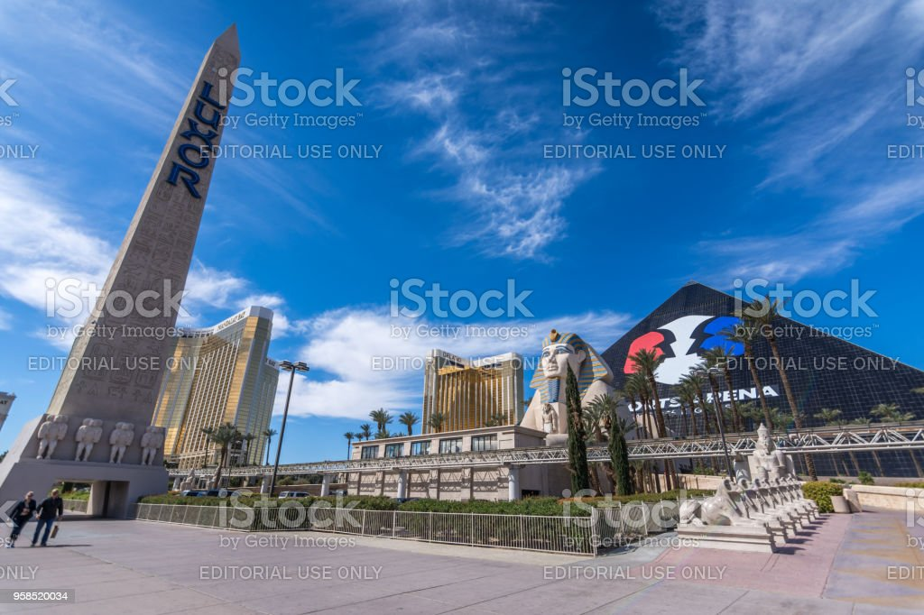 The Famous Luxor Pyramid Hotel In Las Vegas As Seen On A Sunny Day