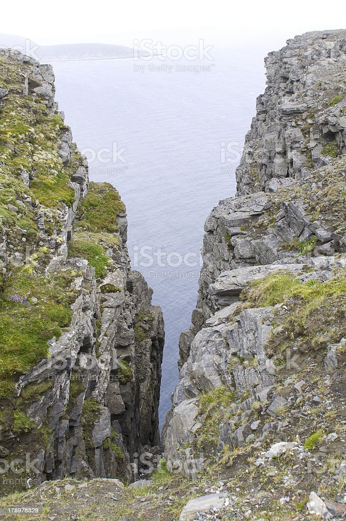 The famous North Cape in Norway. Nordcapp royalty-free stock photo