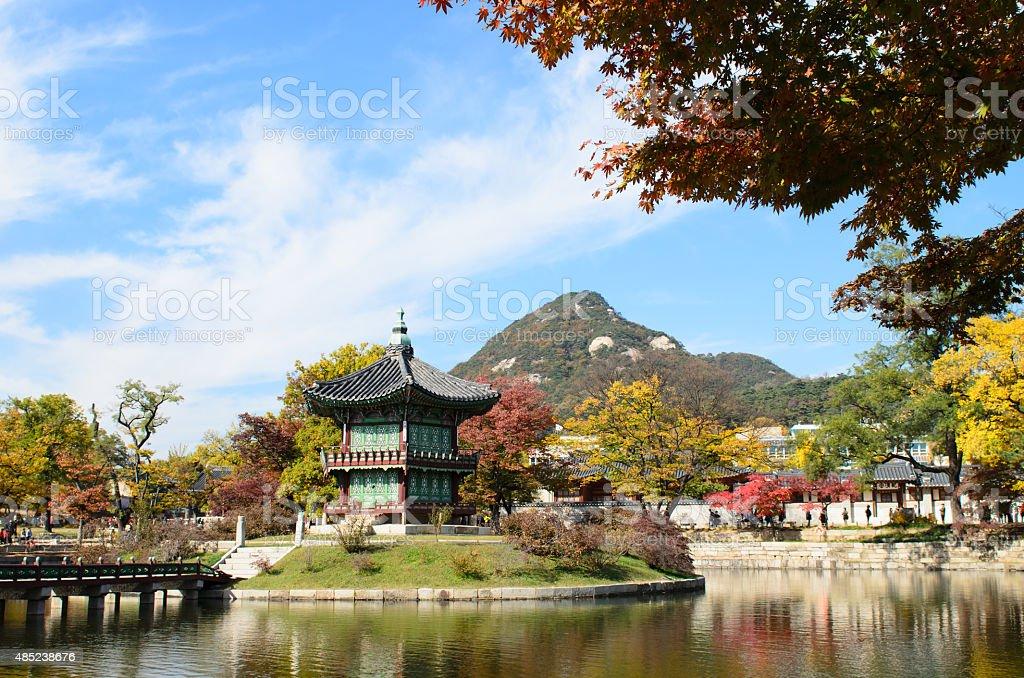 El famoso palace en Corea - foto de stock