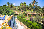 istock The famous park Guell in Barcelona, Spain 638593642