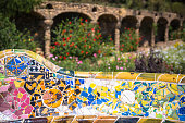 istock The famous park Guell in Barcelona, Spain 638695026