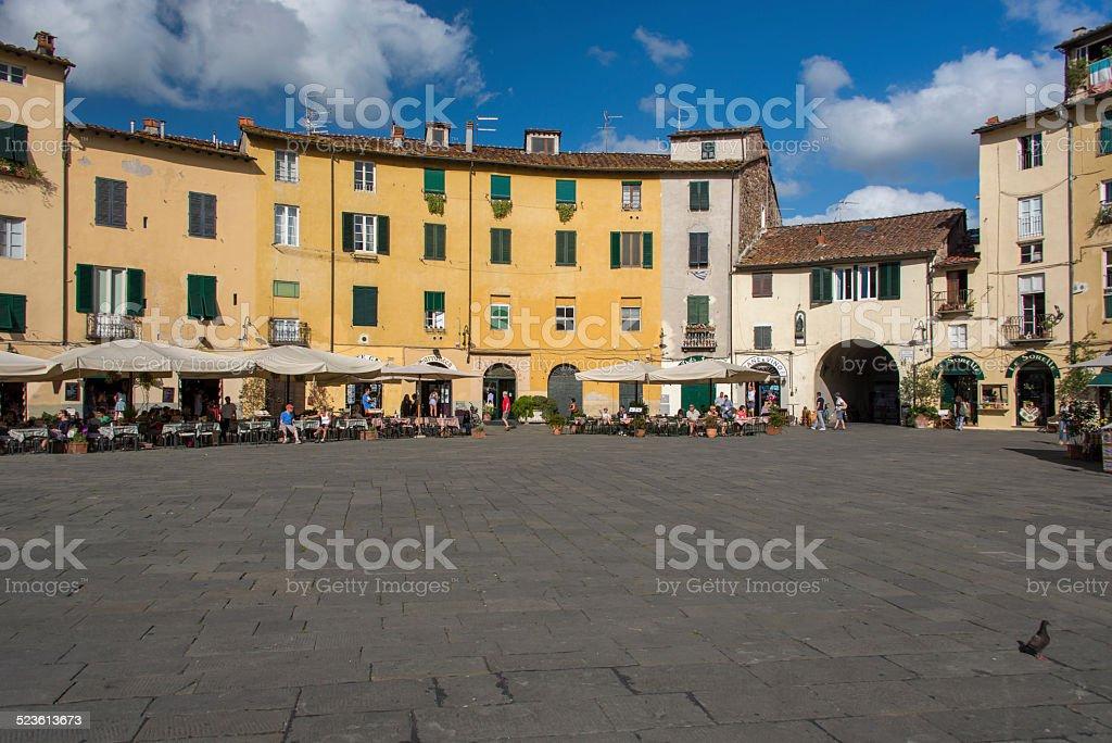 The Famous Piazza dell'Anfiteatro stock photo