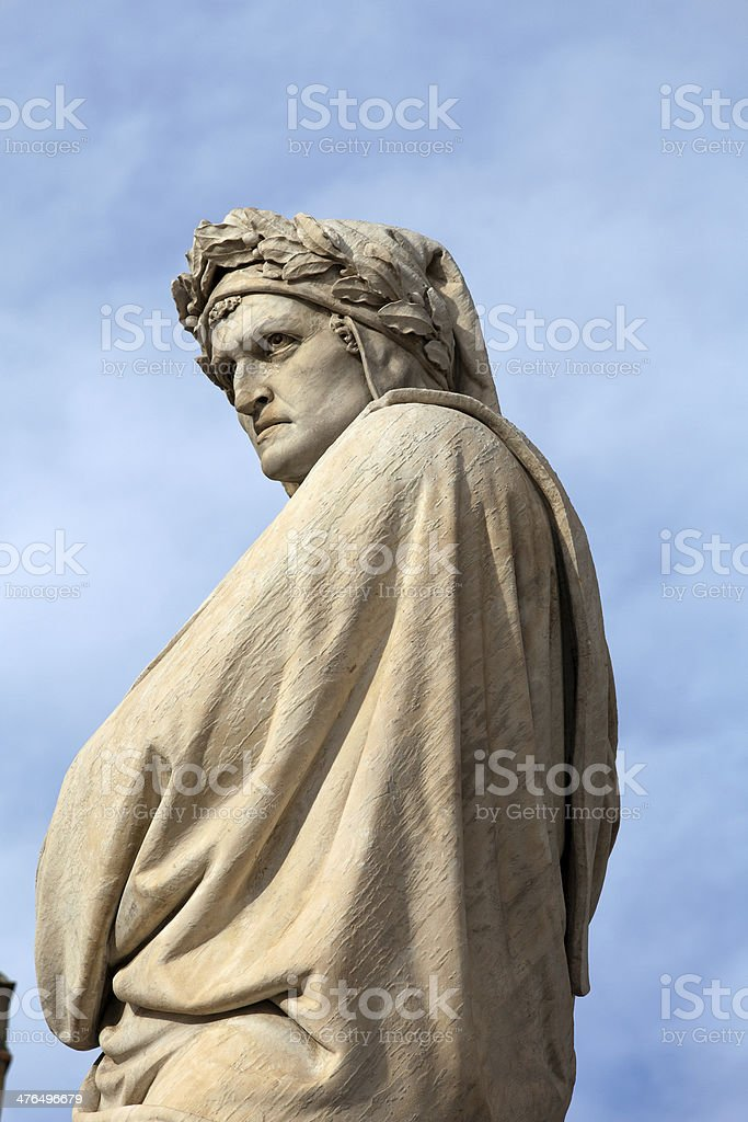 The famous poet Dante Alighieri stock photo