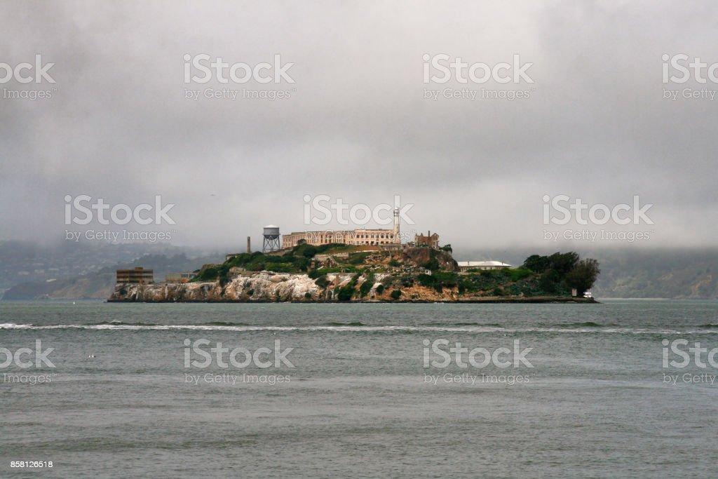 The famous prison by Alcatraz Island  - San Francisco stock photo
