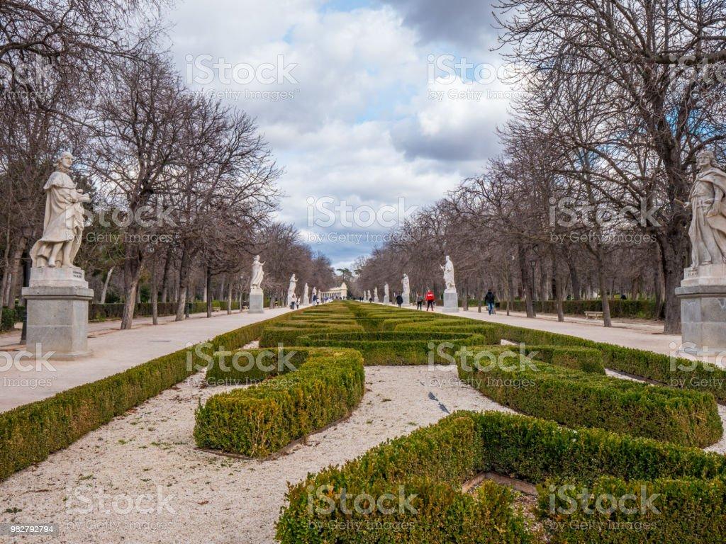 The famous Retiro Park in Madrid - a popular landmark in the city