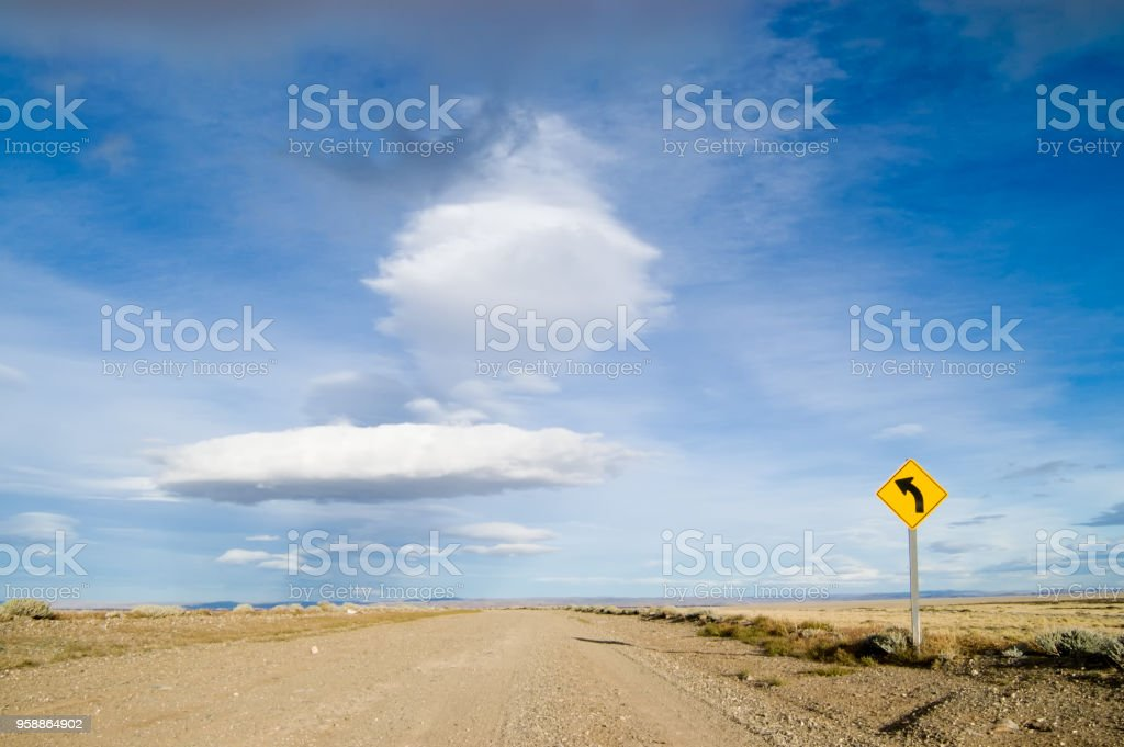 The Famous Route 40 in Patagonia stock photo