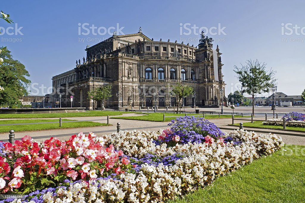 The famous Semperoper in Dresden stock photo