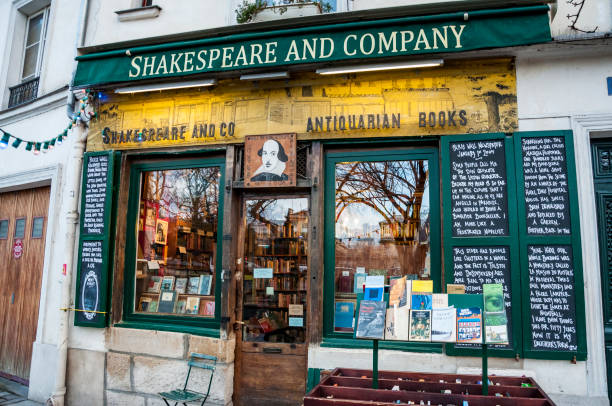 The famous Shakespeare and Company bookstore stock photo